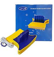 Магнитная щетка для мытья окон двухсторонняя Glass Wiper, фото 1