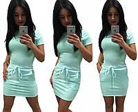 Платье туника лето  кулиска рукав мини 42 44 46 48 50 Р, фото 1
