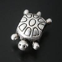 Бусина Pandora черепаха (Пандора) посеребренная P5040533, фото 1