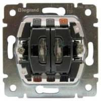 Механізм вимикача 2-кл. з підсв. Legrand Galea  775825