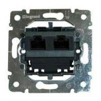 Механізм розетки подв. 2*RJ45 UTP кат 5 Legrand Galea 775762