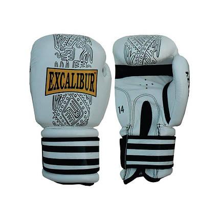 Перчатки боксерские Excalibur 552-03 Aztec (14 oz) белый, фото 2
