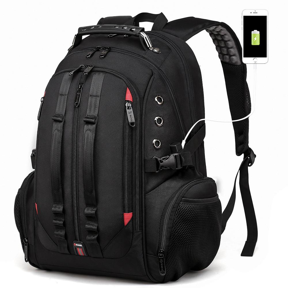 """Дорожный рюкзак Bange BG1901, с USB портом 3в1 и отделением для ноутбука 17,3"""", 35л"""