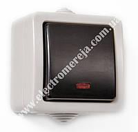 Вимикач 1кл.прохідний IP54 SVEN SE-72012L сірий