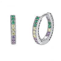 """Серебряные женские серьги 925 пробы с кристаллами циркония """"Cote d'Azur"""", фото 1"""
