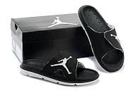 Шлепки Nike Air Jordan black, фото 1