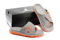 Шлепки Nike Air Jordan grey-orange, фото 1