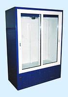 Холодильный шкаф-витрина Айстермо ШХС - 1.0 со стеклянными раздвижными дверями и автоотайкой