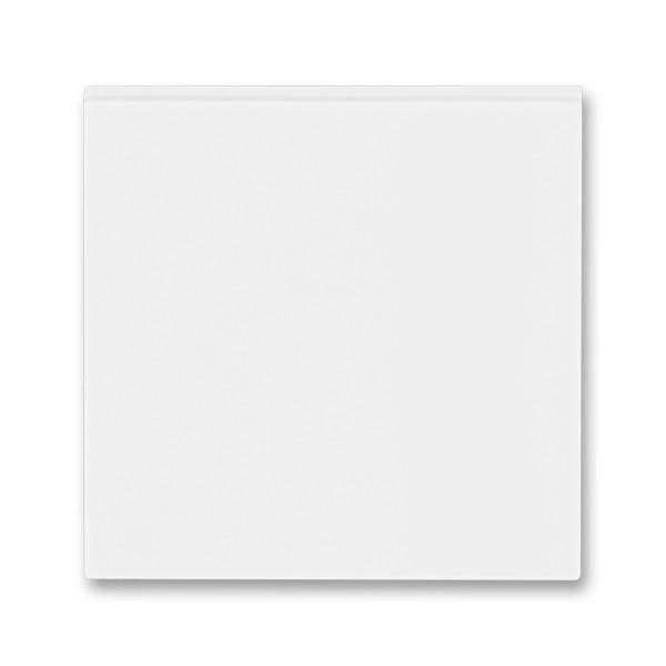 Вимикач 1 клавішний перехресний з підсвічуванням (з трьох місць) білий/білий, Levit Elektro-Praga ABB