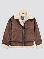 Оригінальна шкіряна куртка пілот B-3 Sherpa Alpha Industries MLB21002A1 (Brown)