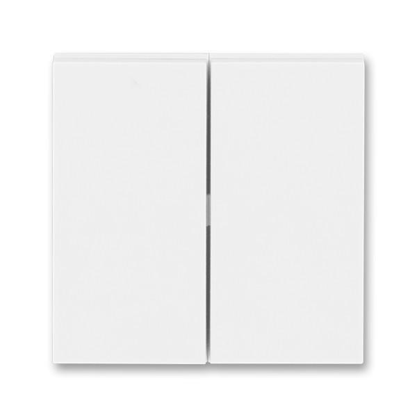 Выключатель 2 клавишный проходной белый/белый, Levit Elektro-Praga ABB