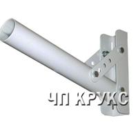 Кронштейн для уличного светильника, крепление на столб стальной лентой