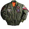 Детская летная куртка MA-1 Jacket with Patches Alpha Industries