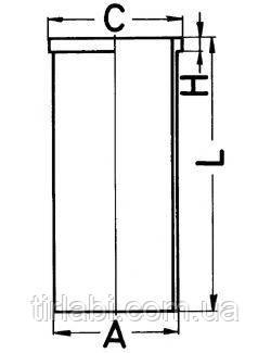 Гильза DAF XF 95 105 (WS…/XF…)