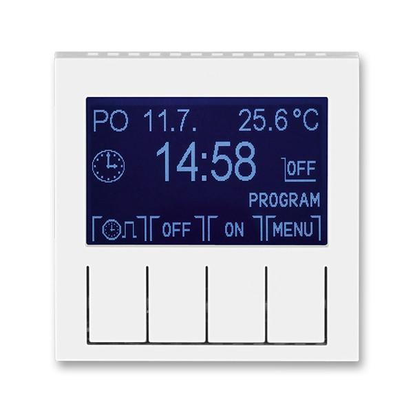 Терморегулятор для теплої підлоги білий/білий, Levit Elektro-Praga ABB
