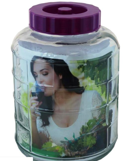 Бутыль стеклянный для вина с гидрозатвором 5л