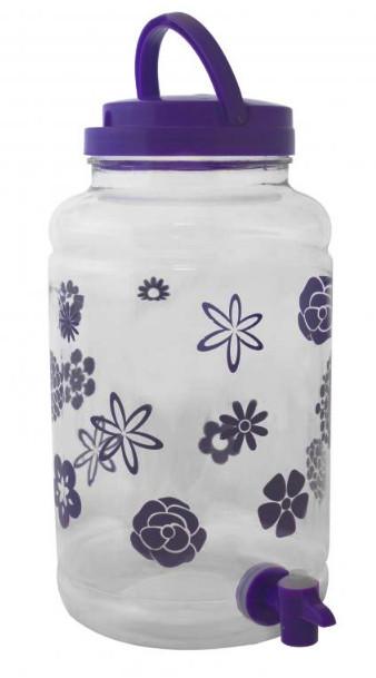 Диспенсер для напитков пластиковый с декором 4.3 л