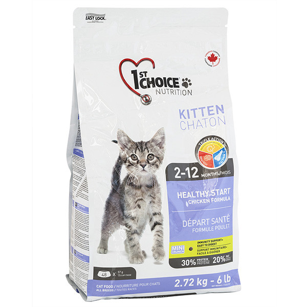1st Choice Kitten Healthy Start ФЕСТ ЧОЙС КОТЕНОК сухой супер премиум корм для котят  2.72 кг.