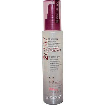 Giovanni, 2chic, Термозащита для волос, бразильский кератин и аргановое масло, 4 жидких унций (118 мл)