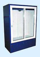 Холодильный шкаф-витрина Айстермо ШХС - 1.4  со стеклянными раздвижными дверями и автооттайкой