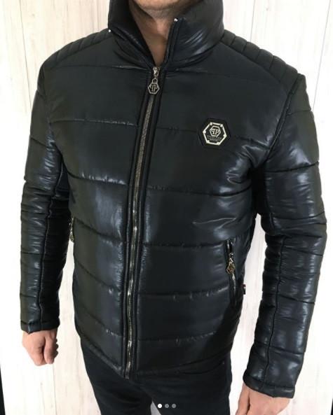 Куртка чоловіча Philipp Plein R407 зимова чорна