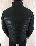 Куртка чоловіча Philipp Plein R407 зимова чорна, фото 2