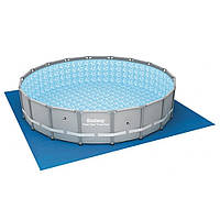 Каркасный круглый бассейн Bestway для дачи и дома 56675 (610х122)  с картриджным фильтром, фото 1