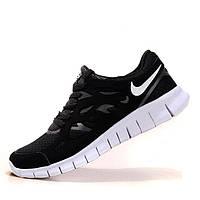 Женские кроссовки, мужские кроссовки для бега Nike Free Run 2 черные