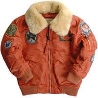 Детский бомбер Boys Maverick Jacket Alpha Industries (оранжевый)