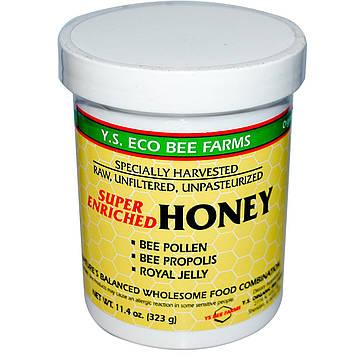 Y.S. Eco Bee Farms, Супер обогащенный мед 11.4 унции (323 г)