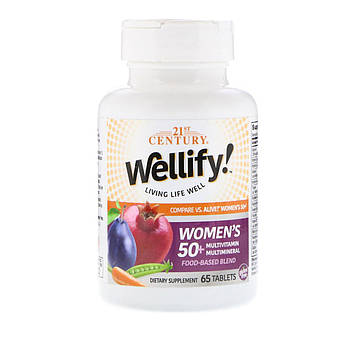 21st Century, Wellify, для женщин старше 50 лет, мультивитамины и мультиминералы, 65 таблеток