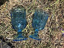Набор 6 бокалов из цветного бирюзового стекла Катрин 300 мл , фото 2