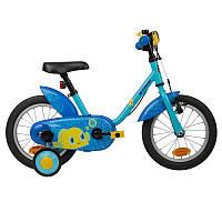 Детский велосипед OCEAN с ручными ножным тормозом и боковыми колесиками ( 3-5 лет,14 дюймов колеса)