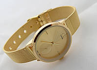 Часы женские - СК  в золотом цвете, кварцевые, фото 1