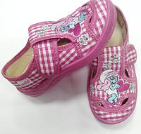 Текстильные туфли - тапочки для девочки Мила Смурфета