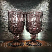 Набор 6 бокалов из цветного розового стекла Катрин 300 мл , фото 2