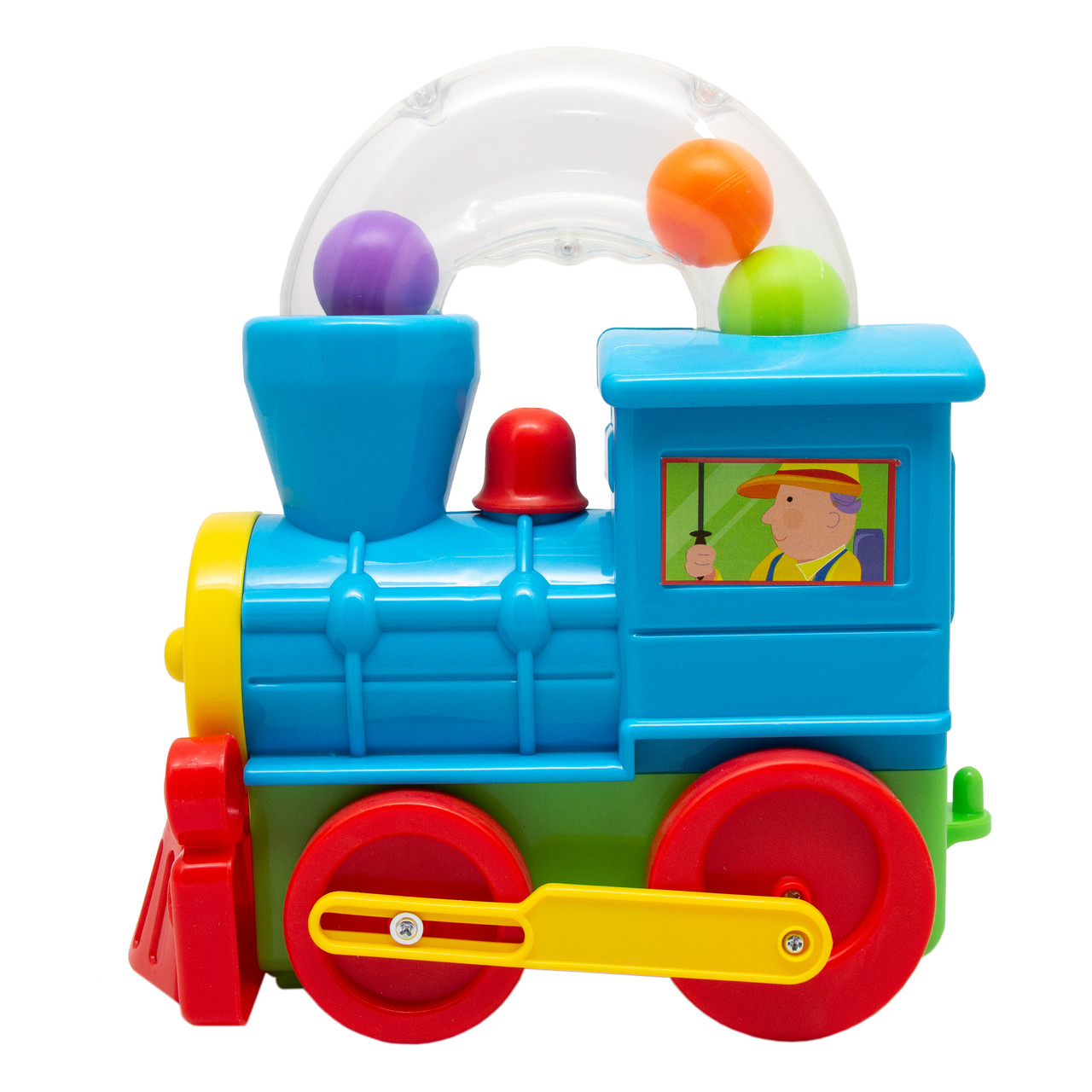 Игровой набор DEVIK Baby Паровоз с шариками, 24*27 см, голубой, пластик.