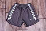 Чоловічі шорти Adidas (плащівка), сірого кольору, фото 4