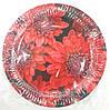 Тарелка бумажная круглая 22см с рисунком в ассортименте
