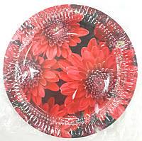 Тарелка бумажная круглая 22см с рисунком в ассортименте, фото 1