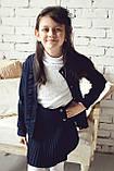 Кофта для школы на девочку трикотажная , фото 2