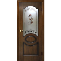 """Межкомнатная дверь  ШПОН """"Виктория СС"""" (2 ЦВЕТА)"""