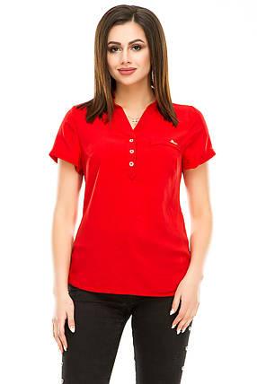 Блузка 299 красная размер 50, фото 2
