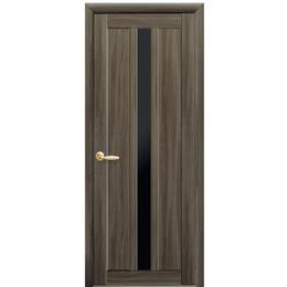 """Міжкімнатні двері ПВХ """"Марті"""" чорне скло (3 КОЛЬОРИ)"""