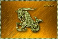 Схема для вышивки бисером Знаки зодиака. Козерог КМР 5082