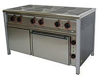 Плита электрическая с жарочным и нейтральным шкафами ПЭ-6Ш