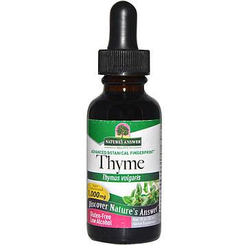 Natures Answer, Тимьян, с низким содержанием спирта, 2000 мг, 1 жидкая унция (30 мл)