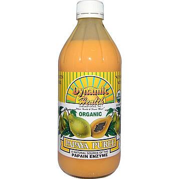 Dynamic Health  Laboratories, Organic, Papaya Puree, 16 fl oz (473 ml)