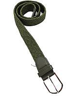 Ремень поясной  плетенка резинка хаки (3,5 см)