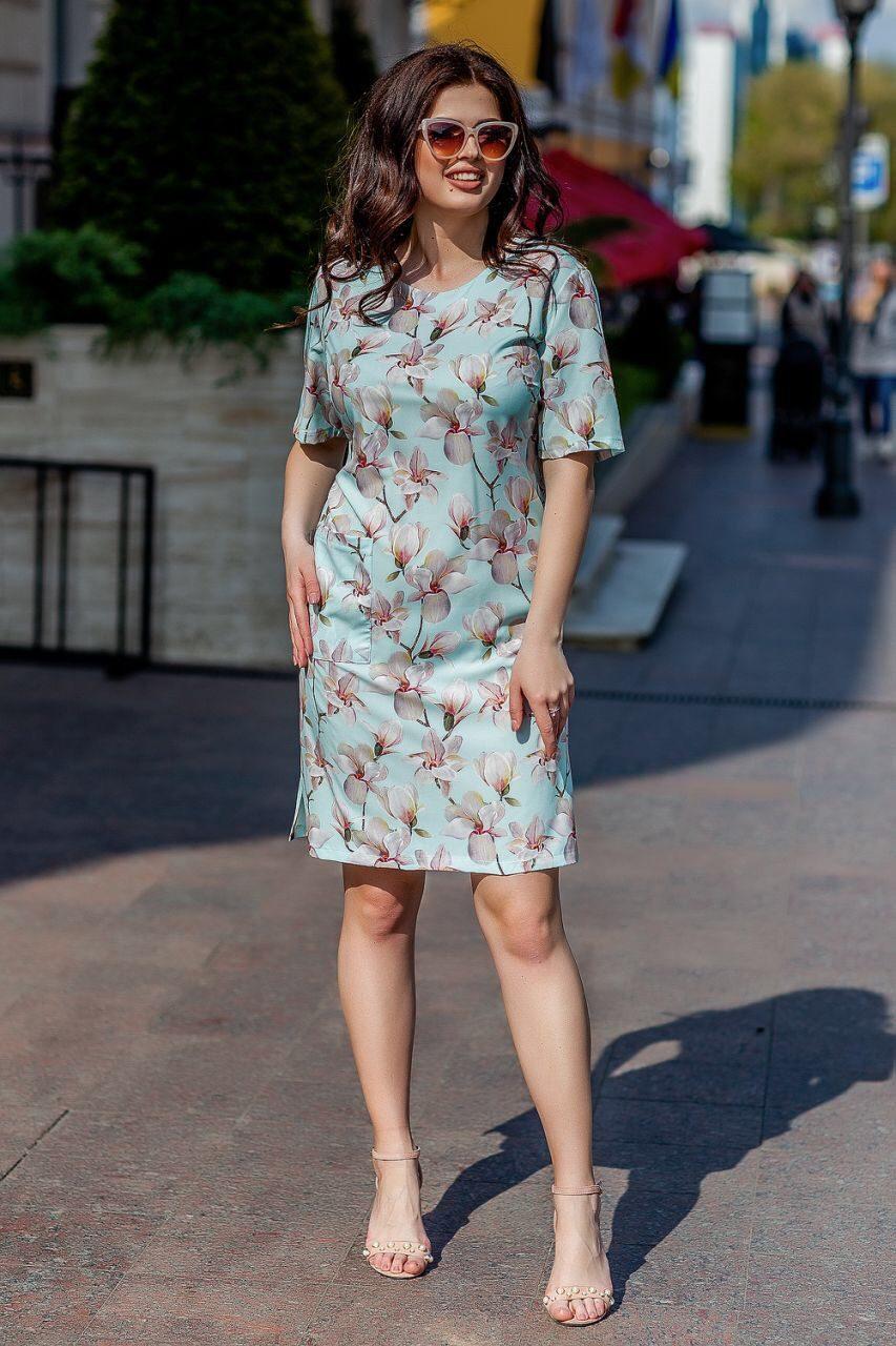 Очаровательное женское платье ткань *Софт* 54, 56, 58, 60 размер батал